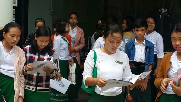 Mathemania 2016 was successfully held at all 5 exam centers in Myanmar