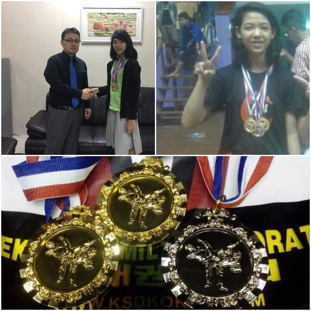 Two Gold and One Silver Medal in Taekwondo
