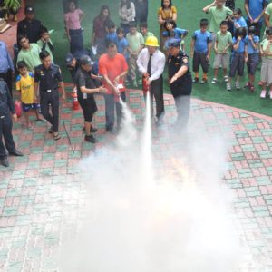 Presentation and practical demonstration on fire safety