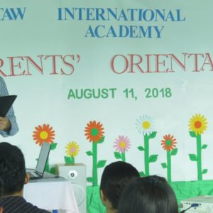 Parents' Orientation for school year 2018-2019
